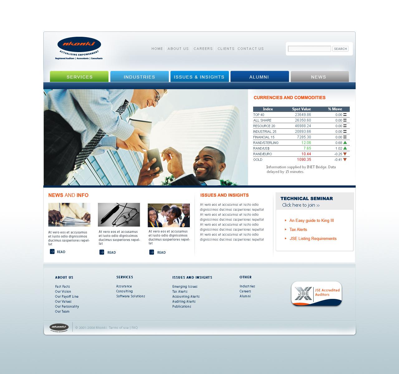 Nkonki Chartered Accountants Website – Ruralbwoy